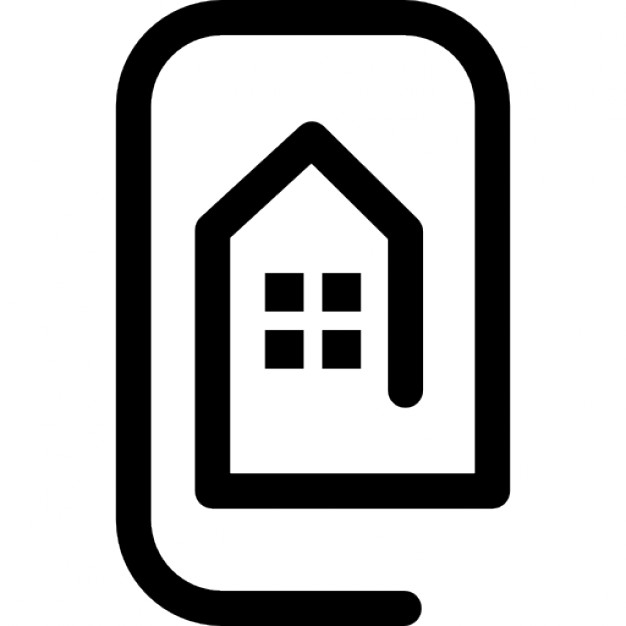 626x626 Rectangular Outline With House Icons Free Download