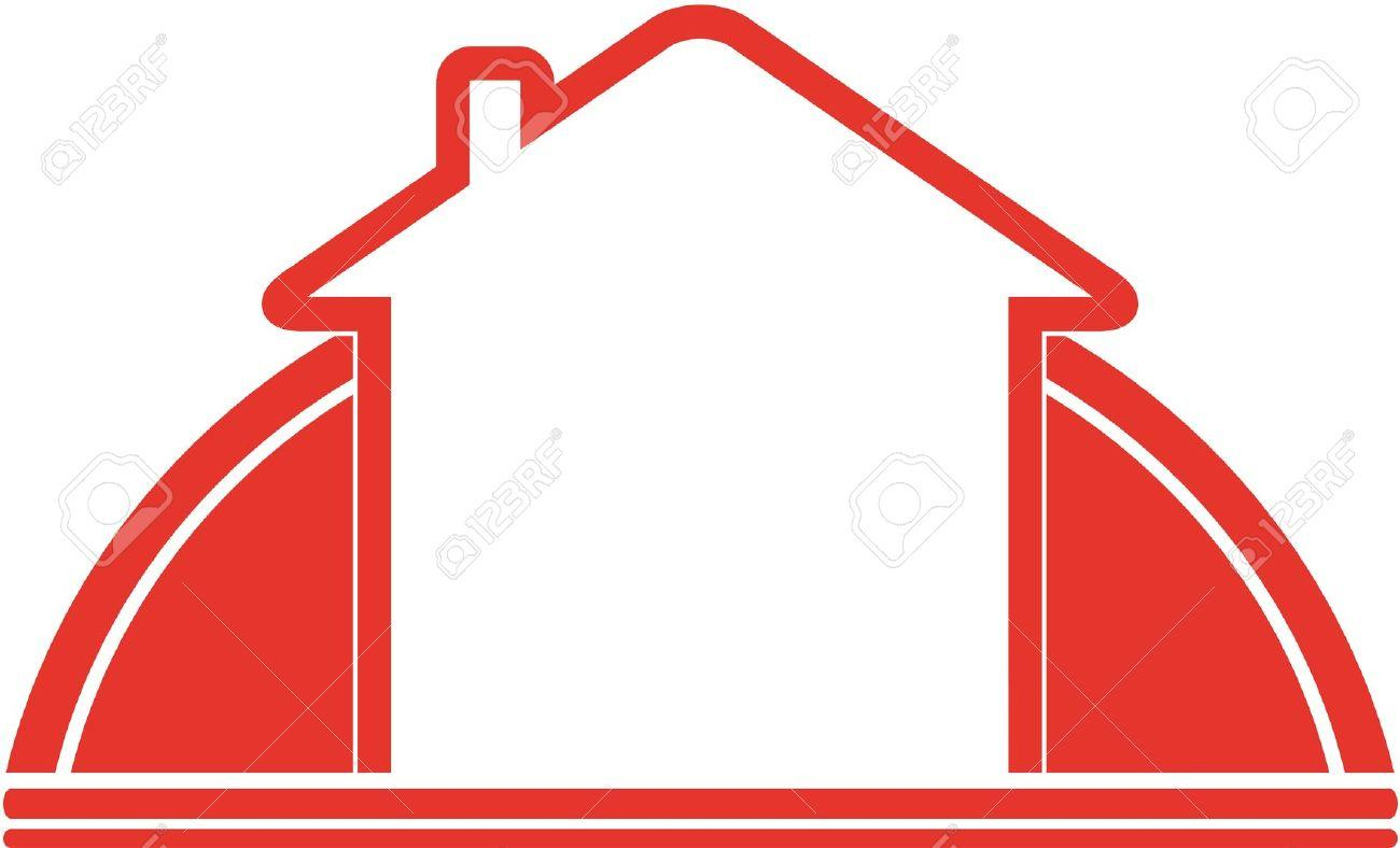 1300x788 Red House Outline Clipart Collection