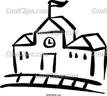 375x334 Schoolhouse Outline Clipart