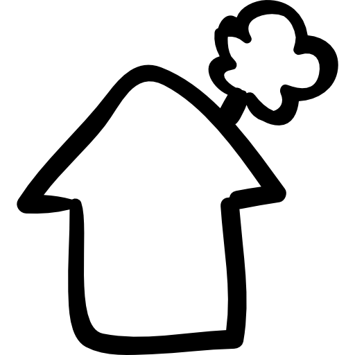 512x512 Smoke Clipart House Outline
