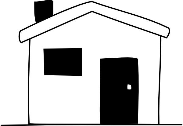 600x413 House Black And White House Outline Clipart Black And White Free
