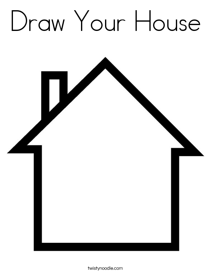 685x886 Draw Your House Coloring Page