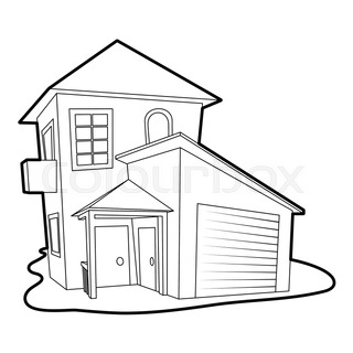 320x320 Modern House Icon. Cartoon Illustration Of Modern House Vector