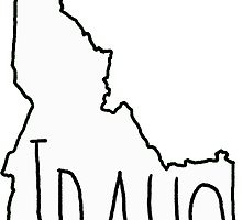 220x200 Idaho Outline Drawing Gifts Amp Merchandise Redbubble
