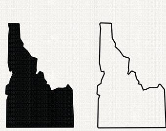 340x270 Idaho Silhouette Etsy