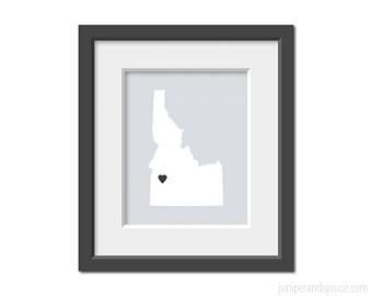 340x270 Idaho State Outline Etsy