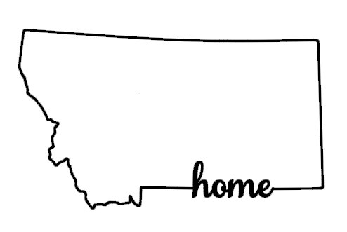 494x331 Montana Home Vinyl Decal Outline Of State Montana Car Decal