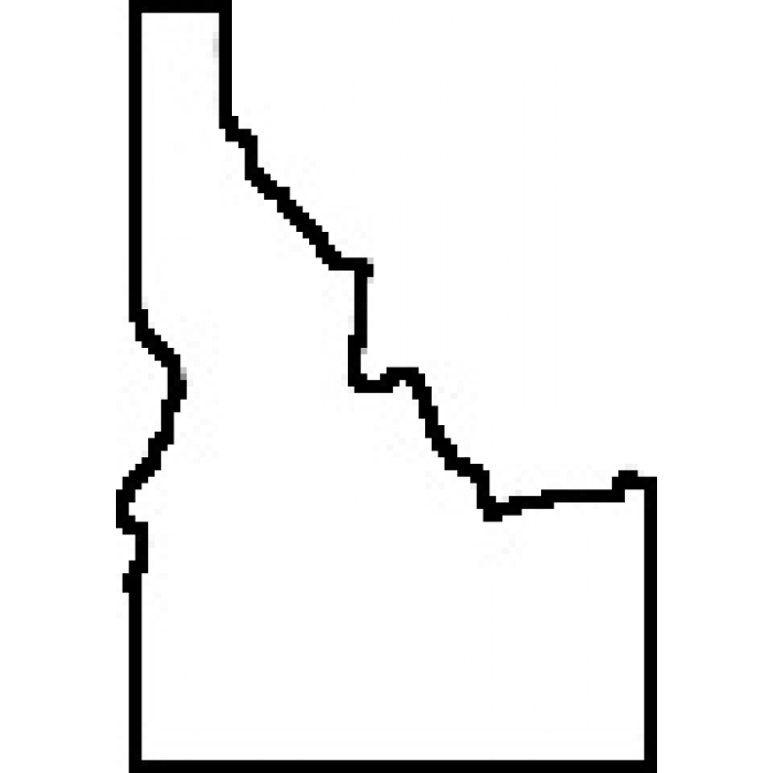 700x700 State Of Idaho Outline Map Rubber Stamp