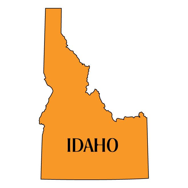 660x660 Vector Map Of Idaho