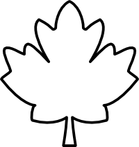 200x212 Maple Leaf Outline Clipart