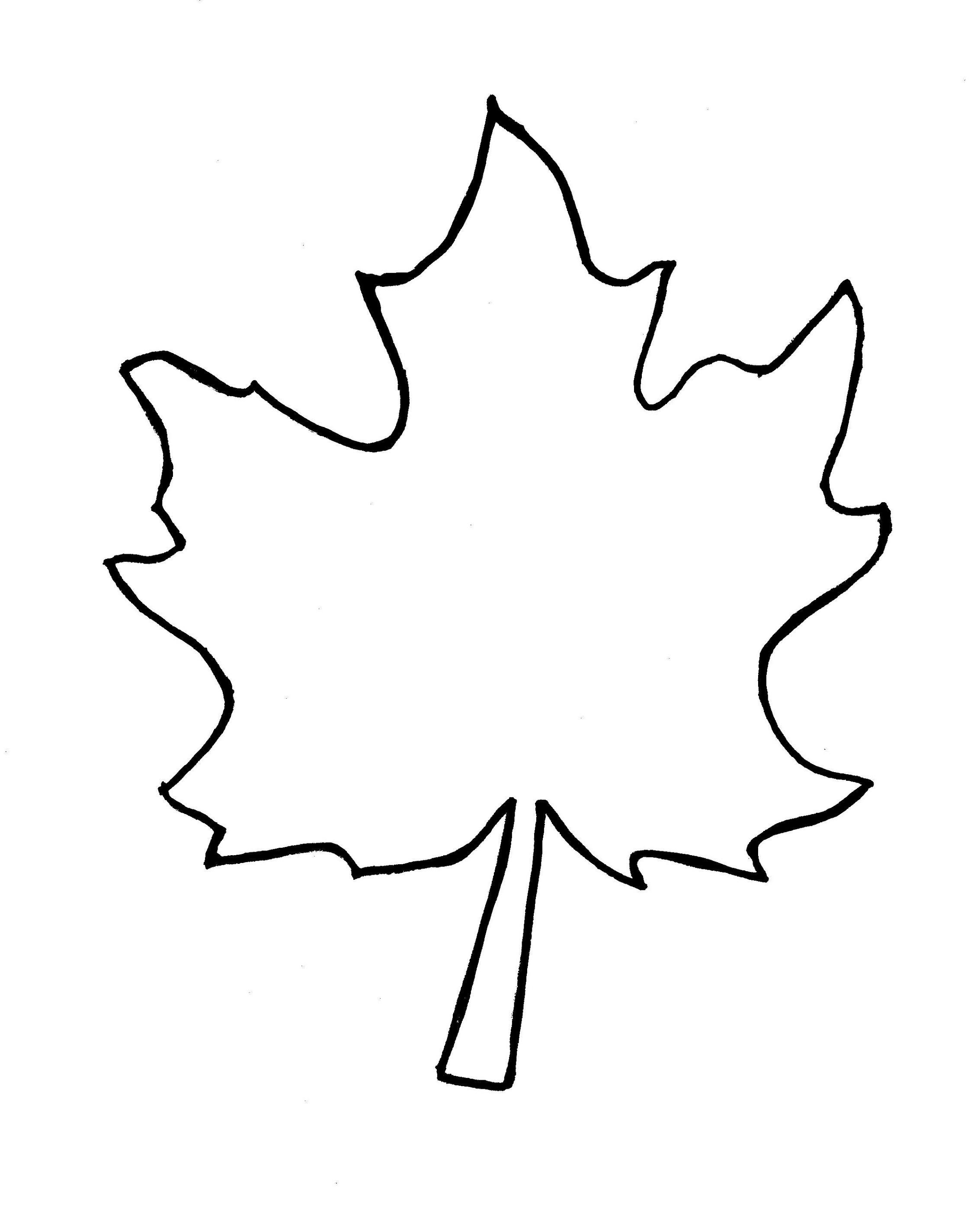 2266x2795 Top Autumn Leaf Outline Template Clipart Free To Use Clip Art