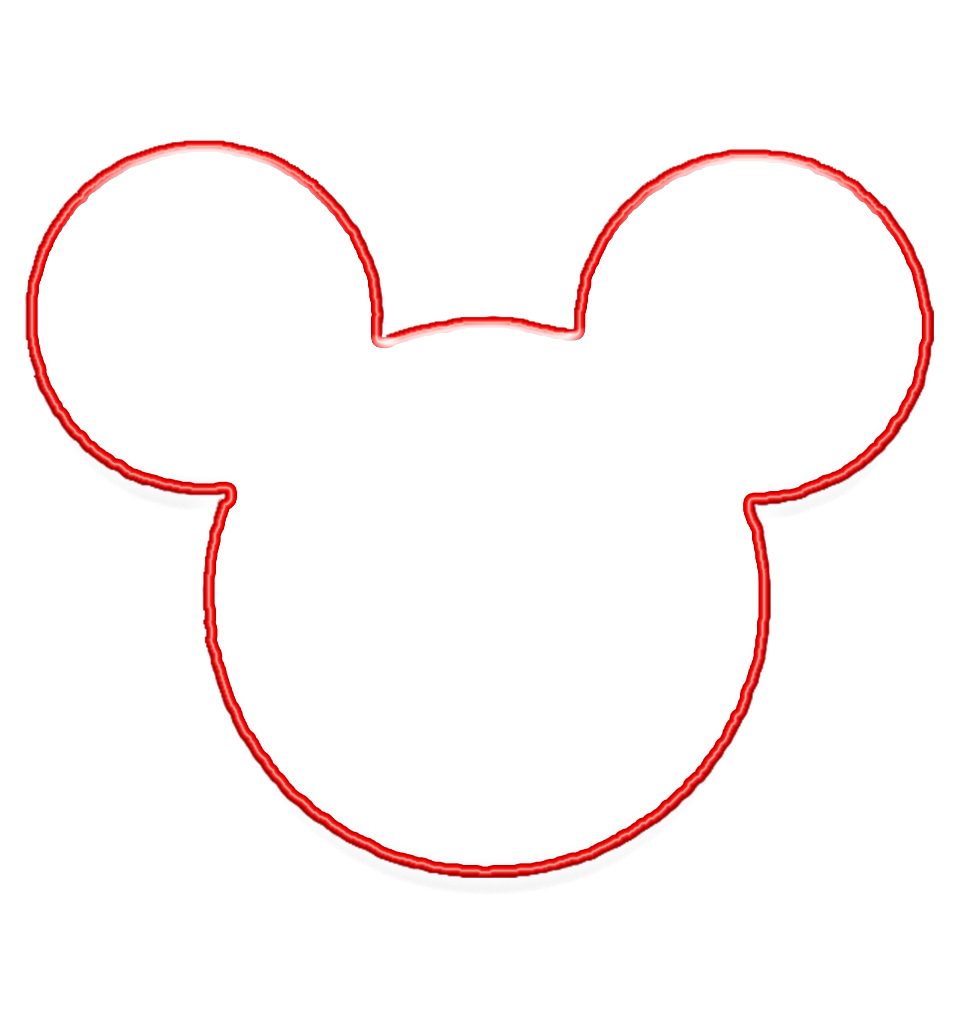 Mickey Mouse Head Template | Outline Of Mickey Mouse Free Download Best Outline Of Mickey Mouse