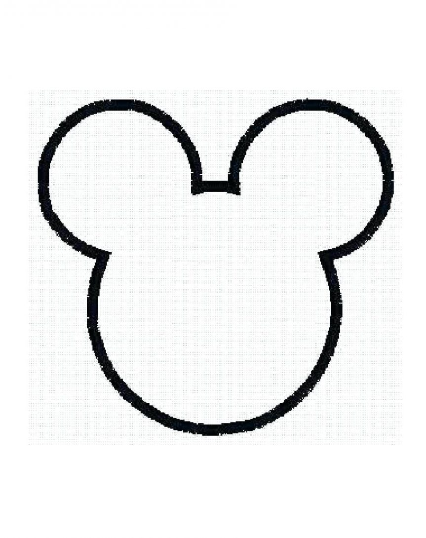 template for minnie mouse ears - outline of mickey mouse free download best outline of