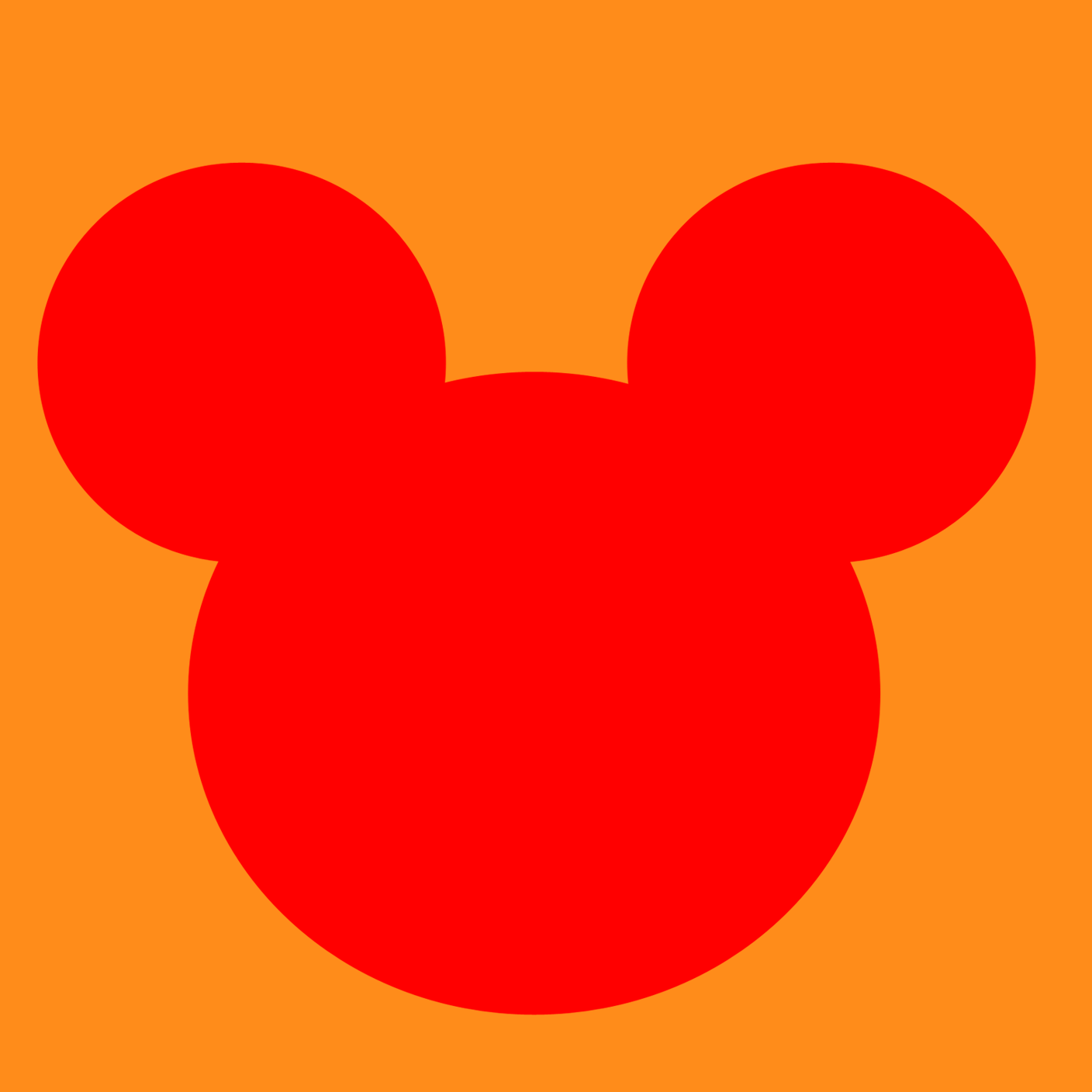Outline Of Mickey Mouse Head