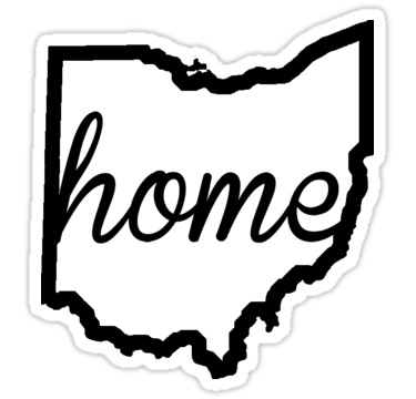 375x360 Ohio Outline Home Stickers By Ohioinspired Redbubble