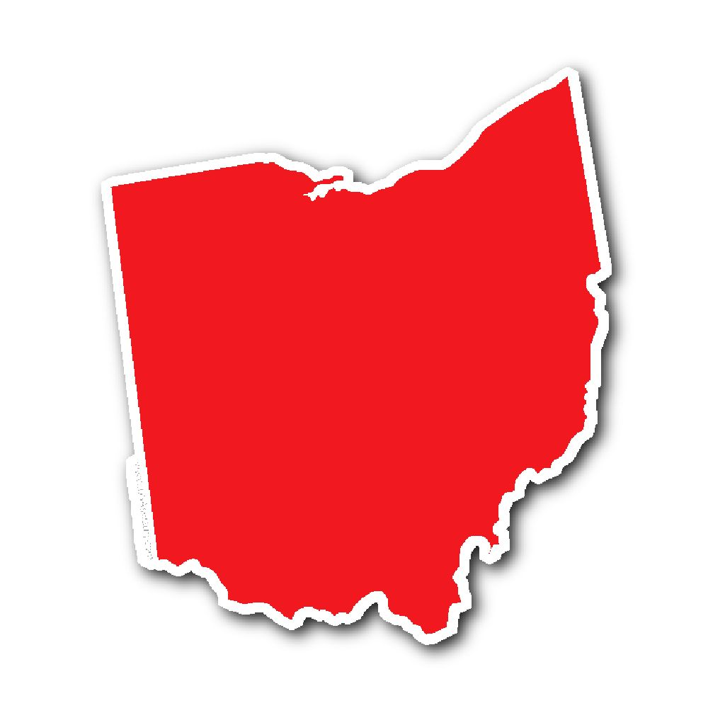1024x1024 Ohio State Shape Sticker Outline Red Outlines And Products