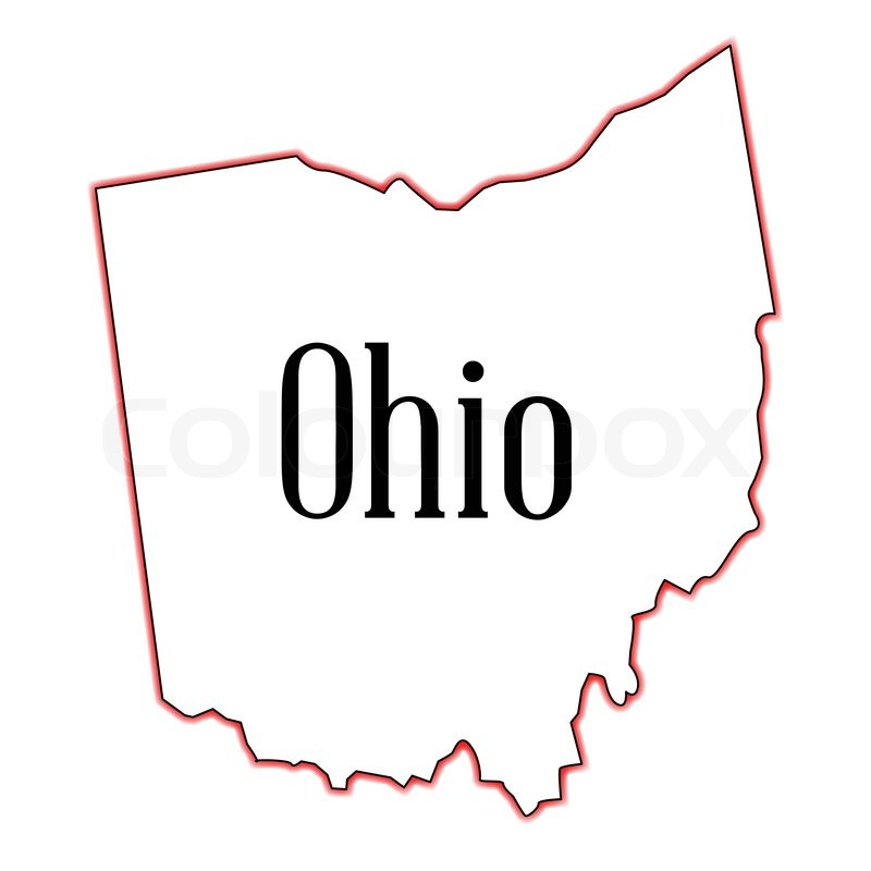 800x800 Outline Map Of The State Of Ohio Stock Vector Colourbox