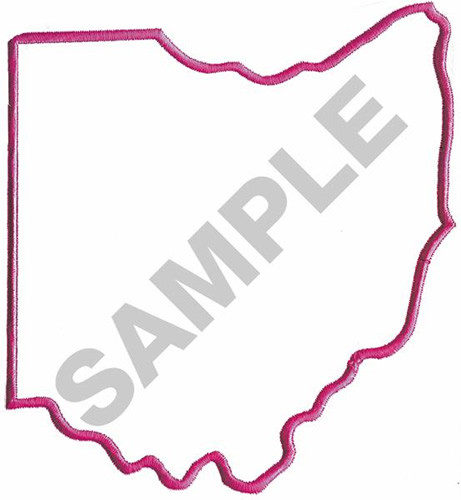 461x500 Outlines Embroidery Design Ohio Outline From Great Notions