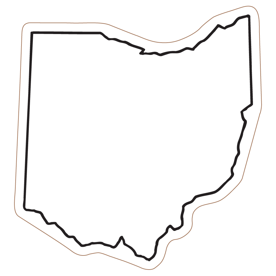 900x900 State Of Ohio Outline Clipart Clipart Panda