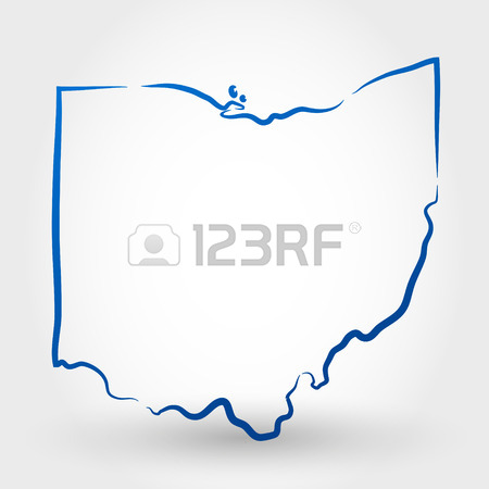 450x450 Map Of Ohio. Map Concept Royalty Free Cliparts, Vectors, And Stock