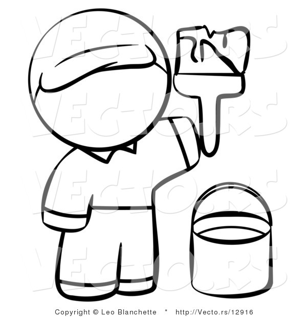 600x620 Person Coloring Page Outline. Person Coloring Page Working On