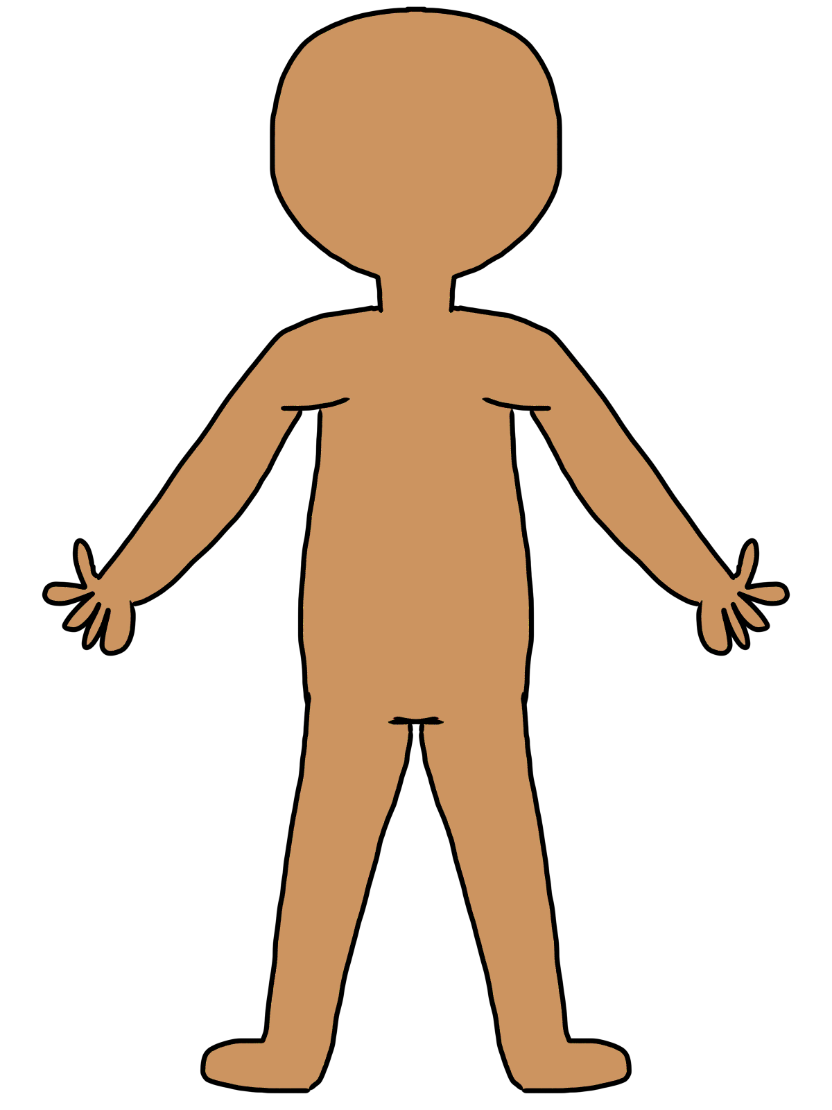 1200x1600 Human Body Outline Clipart