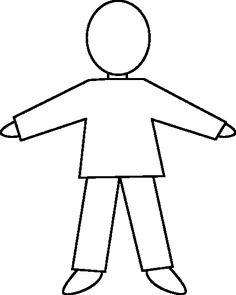 236x295 Human Body Outline For Kids Fun Preschool Ideas My Classroom