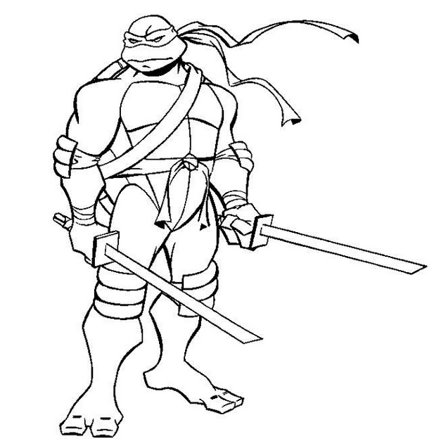 634x627 Best Ninja Turtle Coloring Pages 90 For Coloring Pages For Kids