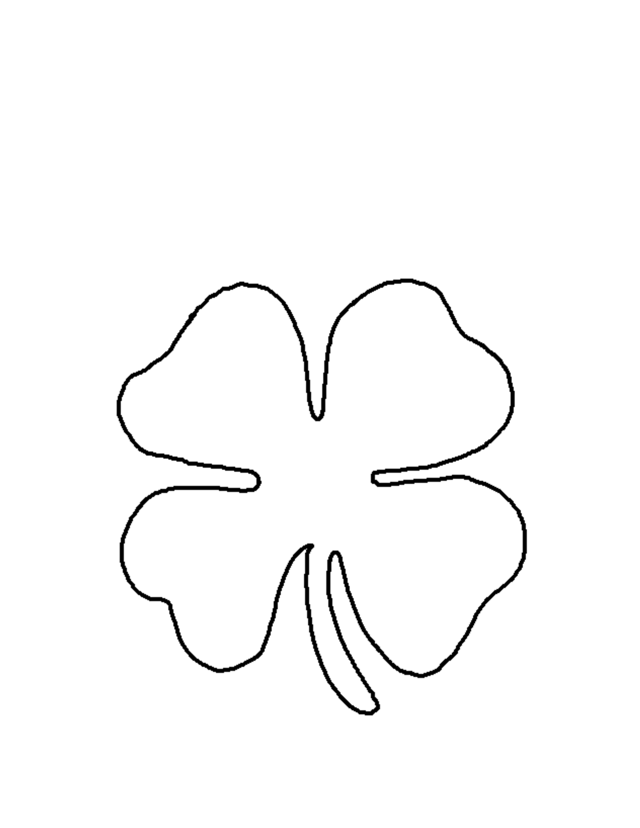Outline Of Shamrock