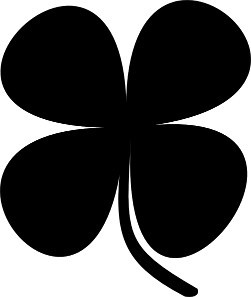 504x595 Shamrock Clip Art Black And White Shamrock Clip Art