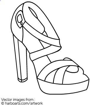 335x355 Download Block Heel Sandal Outline