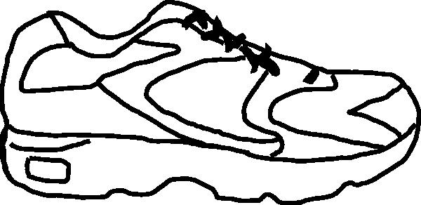 600x292 Nike Clipart Shoe Outline