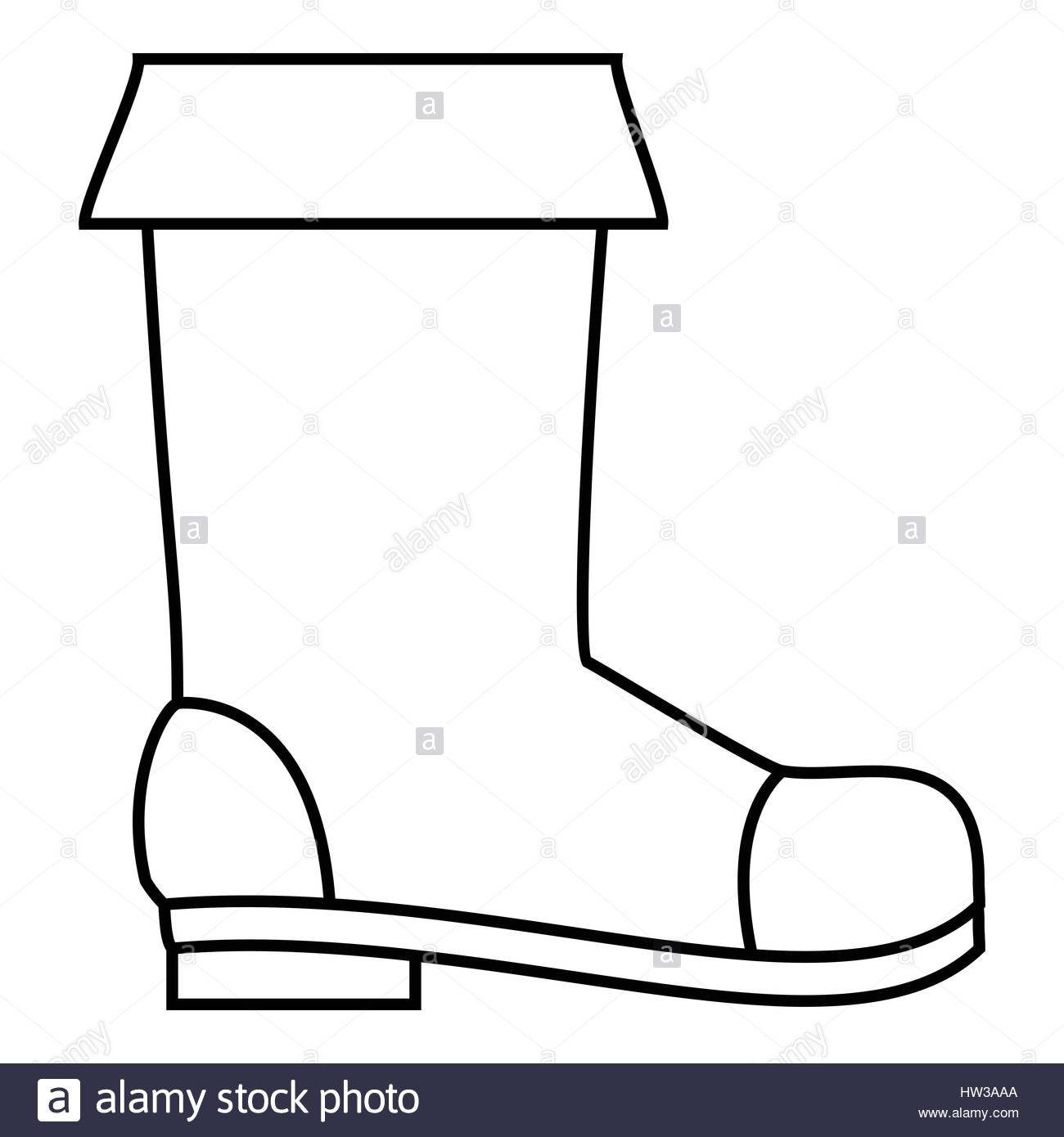 1300x1390 Rubber Boot Icon, Outline Style Stock Vector Art Amp Illustration