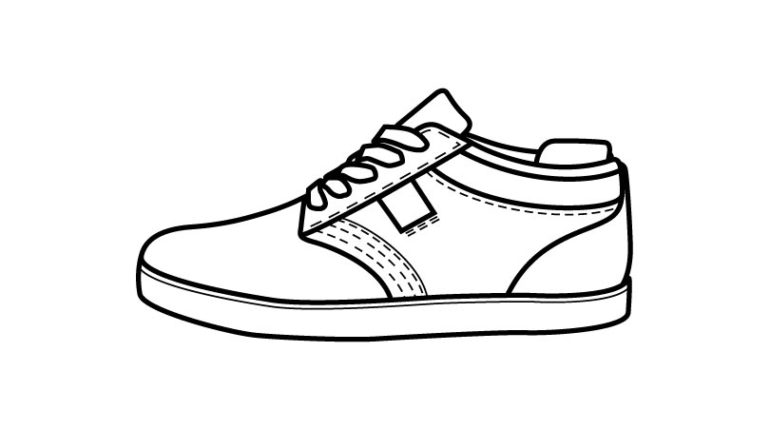 770x430 Shoe Outline Colouring Pages