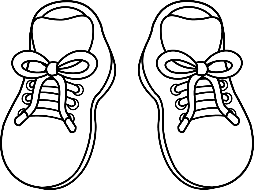 830x621 Shoe Clipart Black And White
