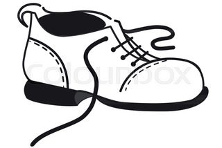 320x214 Vector Silhouette Shoe On White Background Stock Vector Colourbox