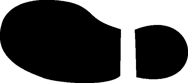 600x266 Black Shoe Left Clip Art