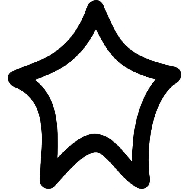 626x626 Irregular Star Shape Outline Icons Free Download