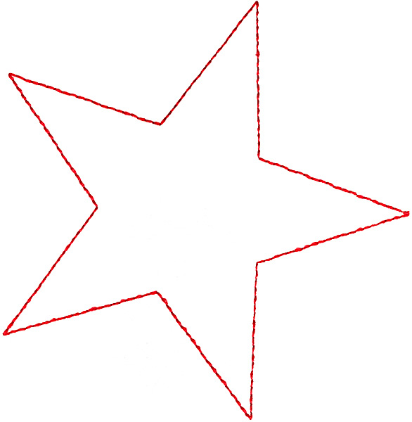 586x600 Star Outline Images Large Sized Black And White Outline Stars
