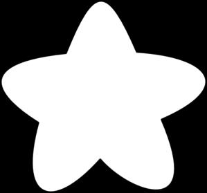 299x279 White Star Outline Clip Art