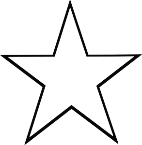 293x300 Star 5 Point Outline