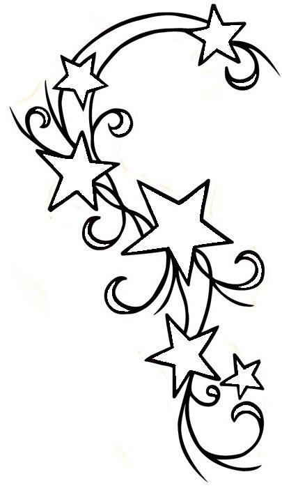 405x700 Drawn Star Outline