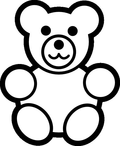 486x593 Circle Teddy Bear Black And White Clip Art