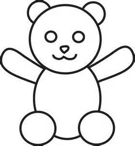 279x300 Simple Teddy Bears To Colour, Stitch, Collage Or Draw Early Play