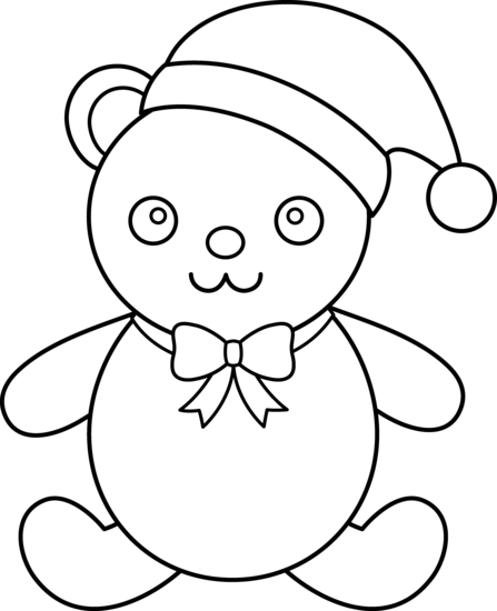 447x550 Teddy Bear Black And White Christmas Clipart Black And White Teddy
