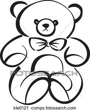 301x370 Bear Vector Outline