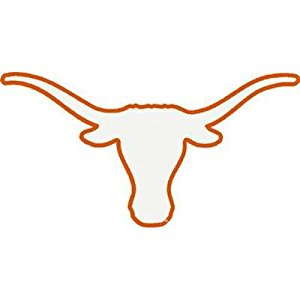 300x300 University Of Texas Longhorns Decal Bevo White