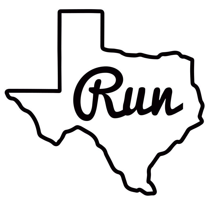 800x800 Run Texas Outline
