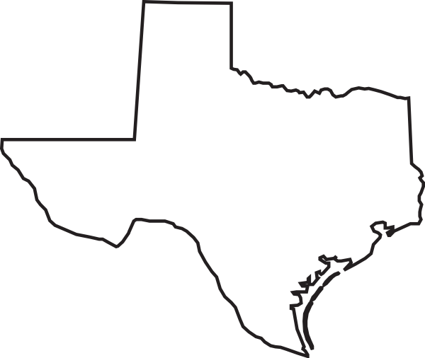 600x506 Texas Outline Clip Art