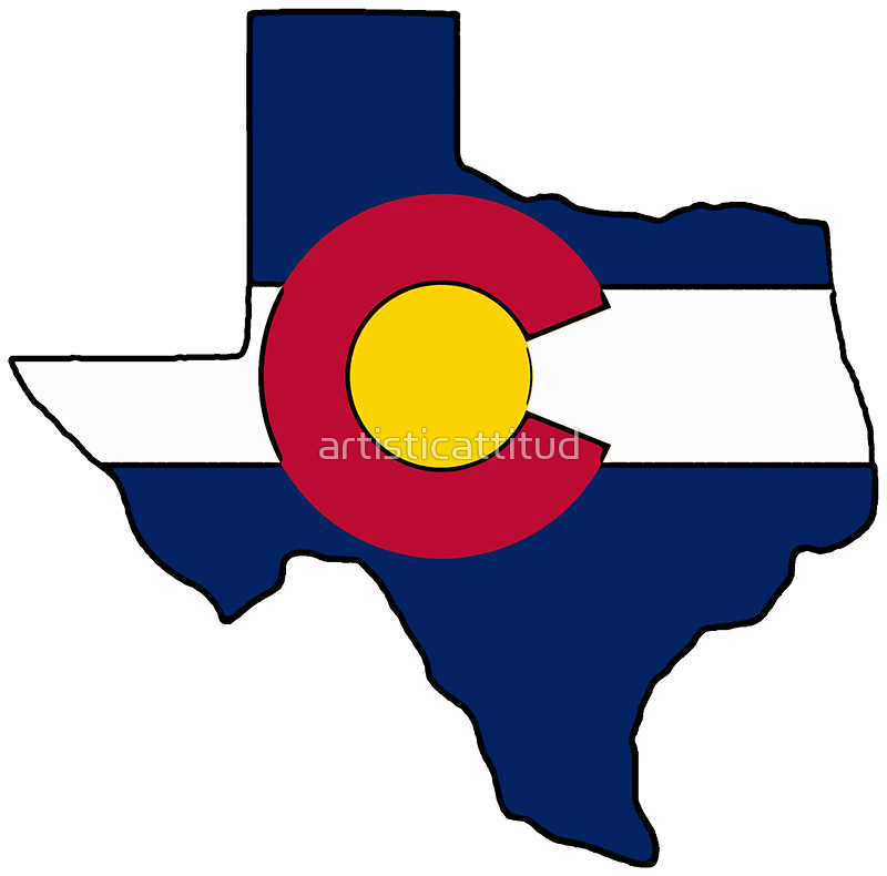 800x790 Texas Outline Colorado Flag Stickers By Artisticattitud Redbubble